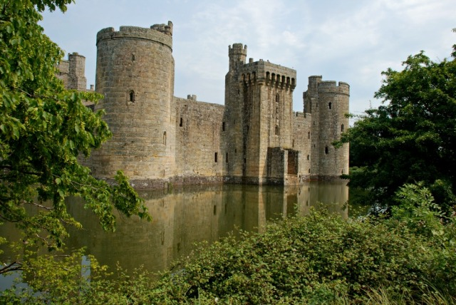 National Trust Site Bodiam castle. A great example of a UK Medievale castle