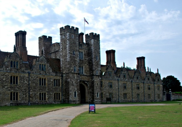 Knole Castle. A National Trust Site in the UK. Kids can go up inside the gatehouse