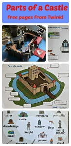 Parts of s Castle. Free to download pages from Twinkl Resources includes a word mat and labelling activity