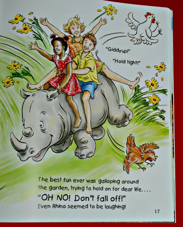 Rescuing Rhino. A sweet fictional story about an orphaned rhino