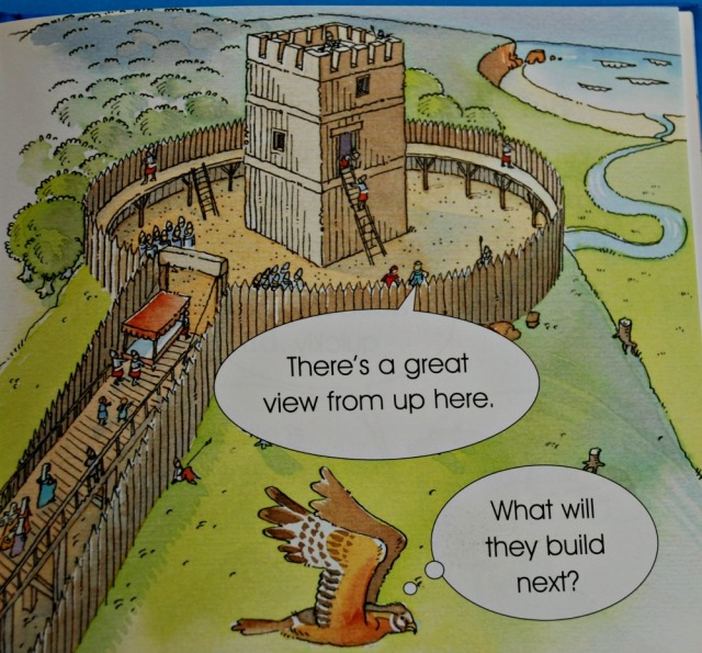 Usborne Young Reading book The Story of Castles starts with wooden castles