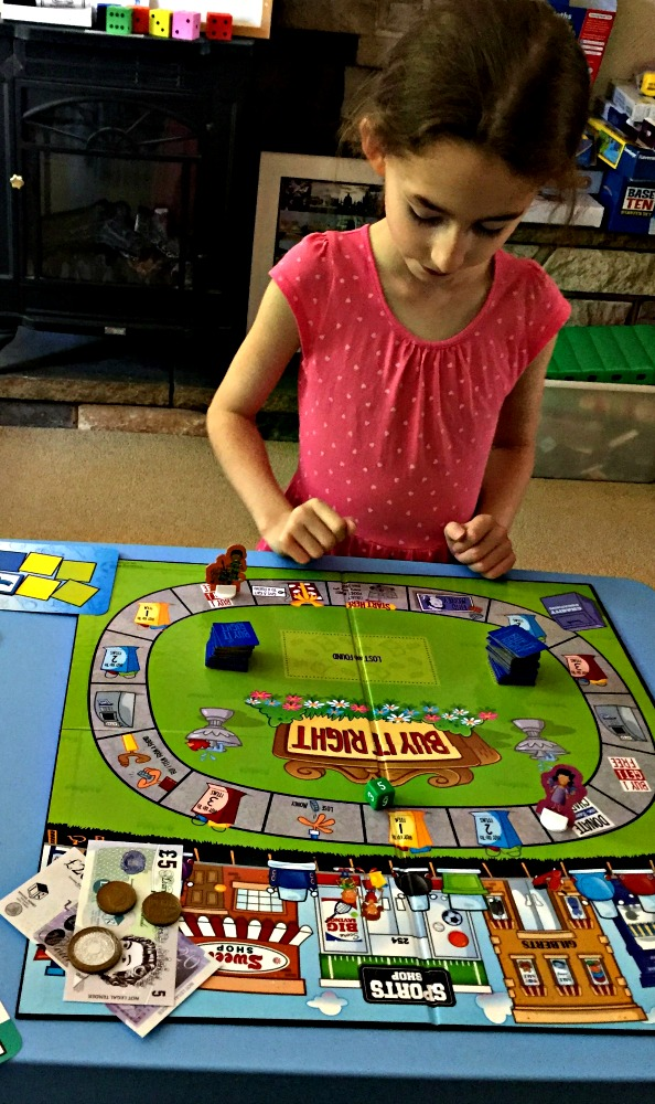 Buy It Right game from Learning Resources. A fantastic money game which helps kids with money maths, place value, addition and subtraction