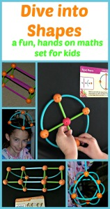 Dive into Shapes by Learning Resources. A fun, hands on maths set for children which encourages them to explore shapes