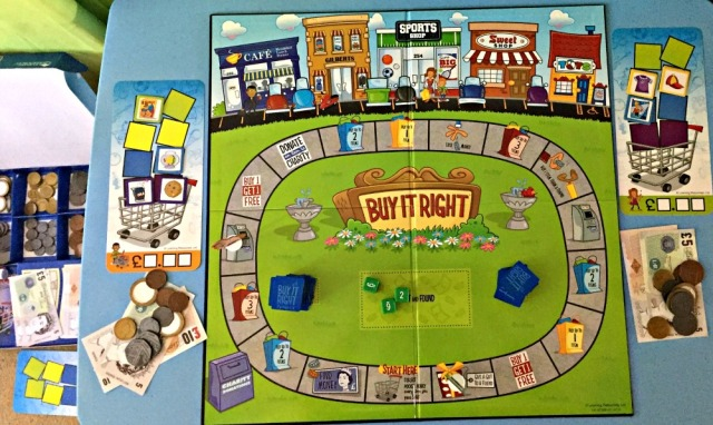Learning Resources Buy It Right shopping game. An excellent money game for children. Lots of maths practice
