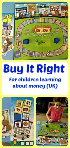 Learning Resources Buy It Right.  Shopping game for children learning about money.  Excellent at home learning tool