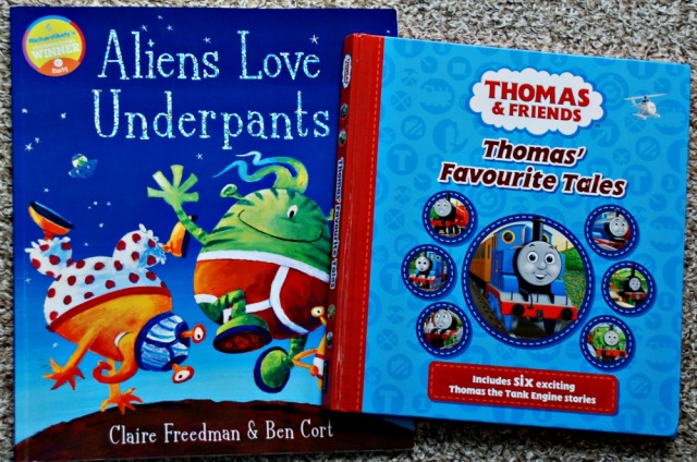 Aliens Love Underpants and Thomas' Favourite Tales