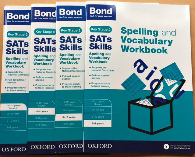 Bond Spelling and Vocabulary Workbooks by Oxford University Press