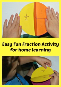 Easy fraction activity to make at home with the kids.