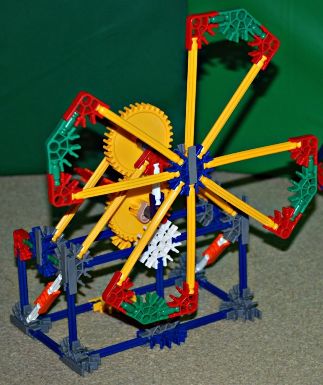 K'NEX Educational Gears set. Building a windmill