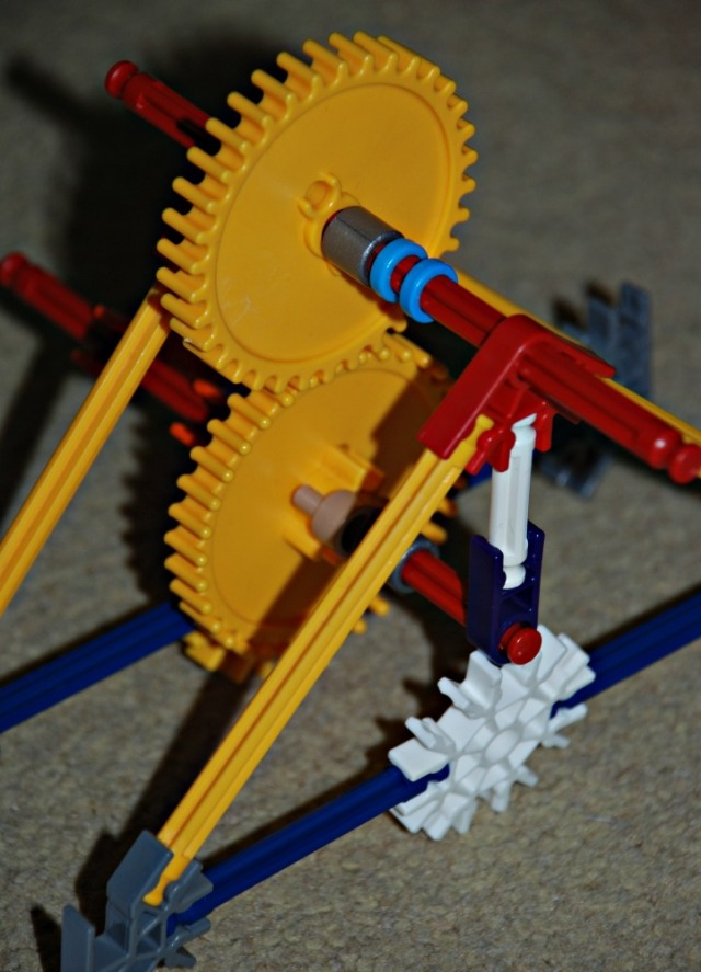 K'NEX Educational gears set is a great hands-on activity which allows kids to understand how gears work