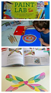 Paint Lab for kids.  A brilliant painting idea book for kids.  Filled with lots of fun projects