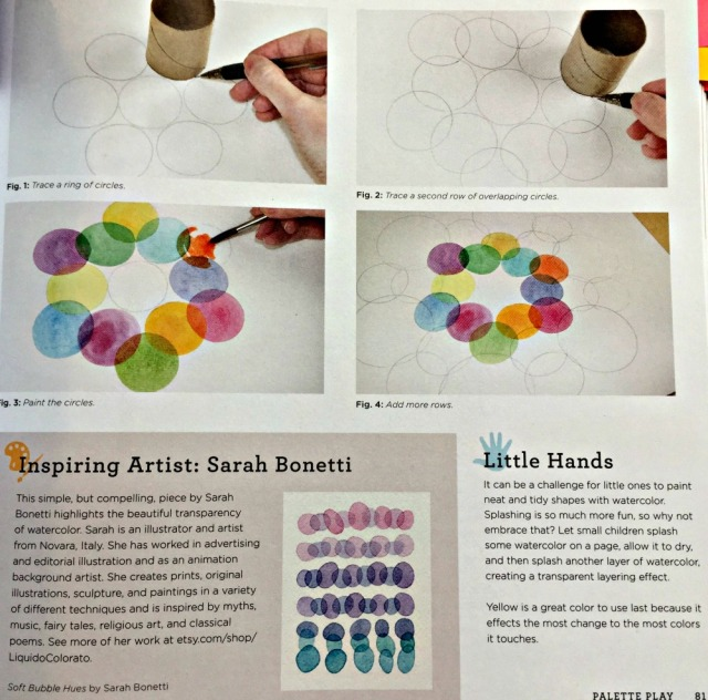 Paint Lab for kids each painting project includes pictures showing each stage, a bit about the inspiring artist and how to adapt it for little hands