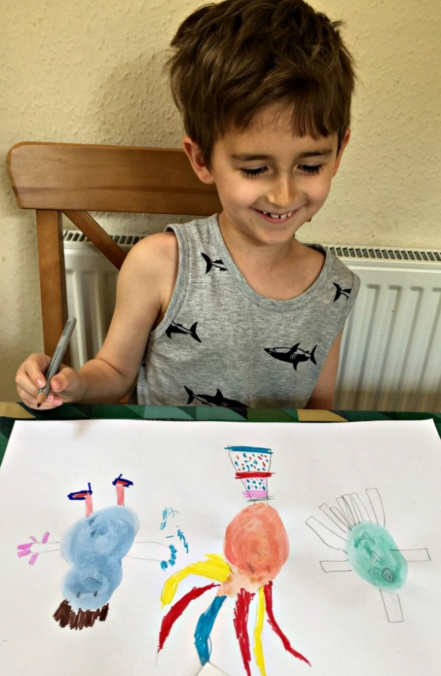 Creating Watercolour Blob Characters from the Paint lab for Kis art book