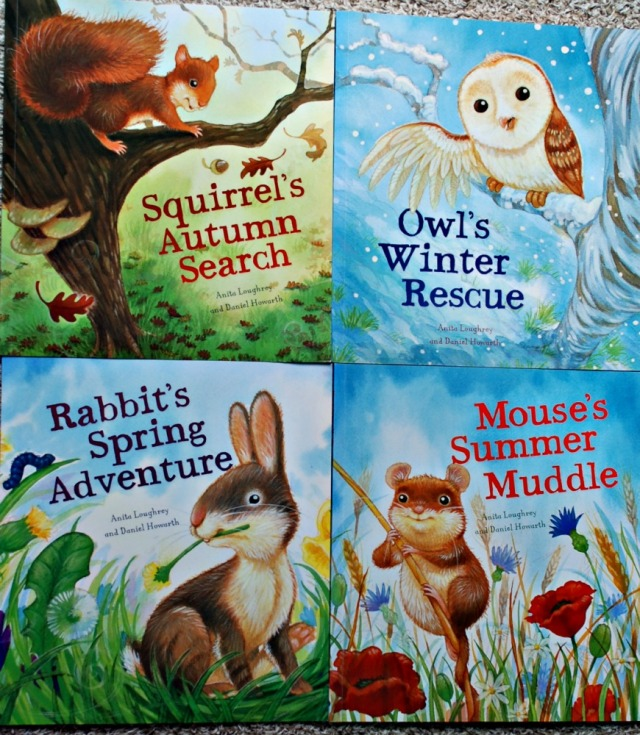 Squirrel's Autumn Search, Owl's Winter Rescue, Rabbit's Spring Adventure, Mouse's Summer Muddle. Lovely seasonal books for younger children which can later be used as readers