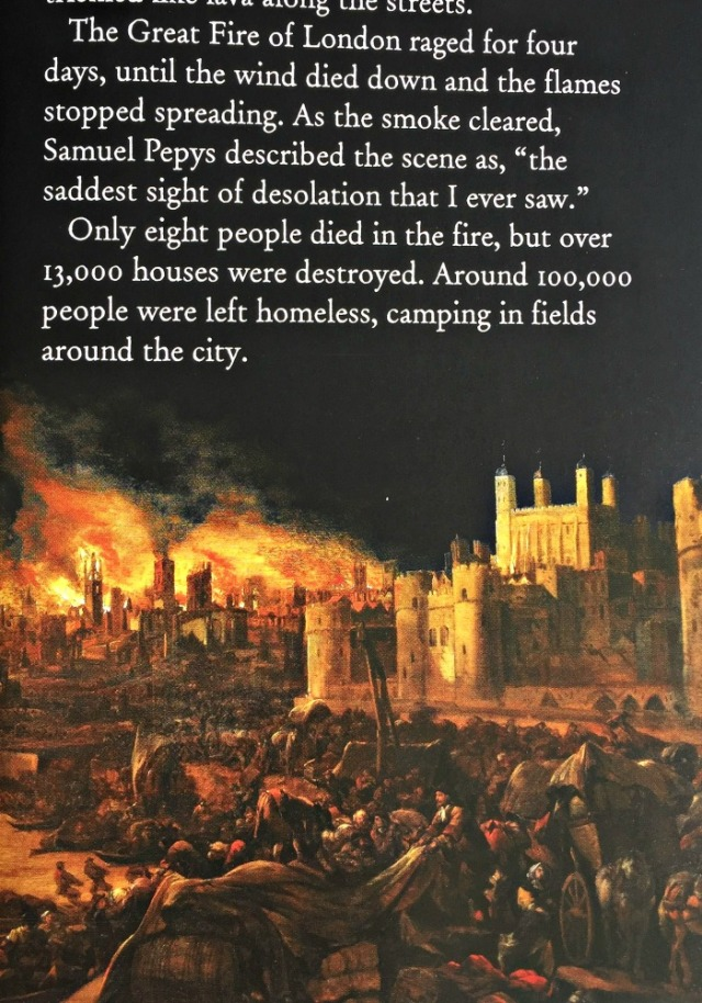 The Story of London includes historical events like The Great Fire of London