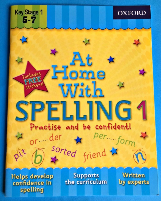 At Home With Spelling 1 workbook by Oxford University Press. Spelling practice for key stage 1