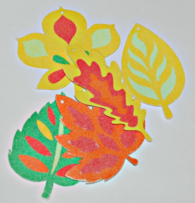 Autumn Leaf Sand Art for kids
