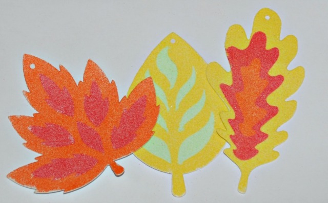 Autumn Sand Art Leaf Activity for kids
