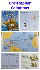 Christopher Columbus. The Usborne Young Reading series book together with pages from the Famous People section of the Activity Village website