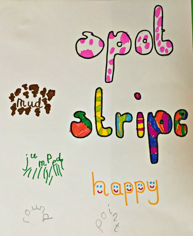 Creating Calligrams, is a fun way to get kids writing and practicing their spelling