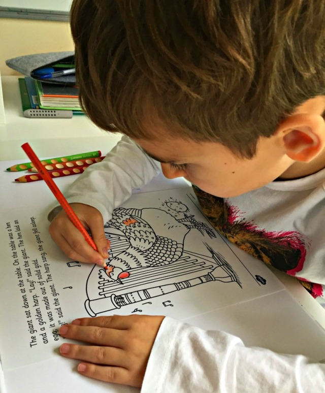 Jack and the Beanstalk colouring story book created by Twinkl Resources