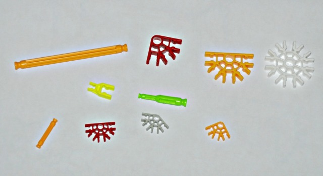 K'Nex pieces the different sizes