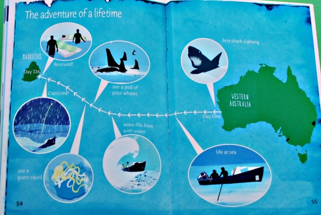 My Journey Across the Indian Ocean includes a map at the end which highlights the key events in the Adventure of a lifetime