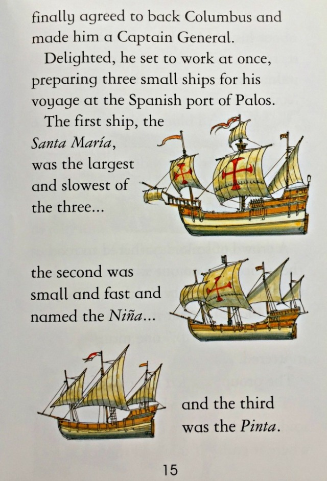 Christopher Columbus by Minna Lacey part of the Usborne Young Reading series.