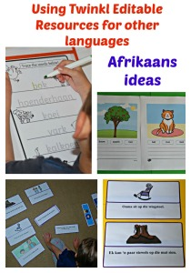 Using Twinkl Editable Resources for other languages. We translated ours into Afrikaans. Great for second language learning
