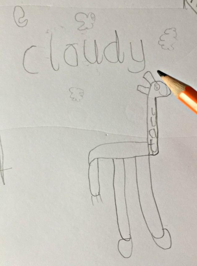 Writing out Calligrams like tall inside a giraffe