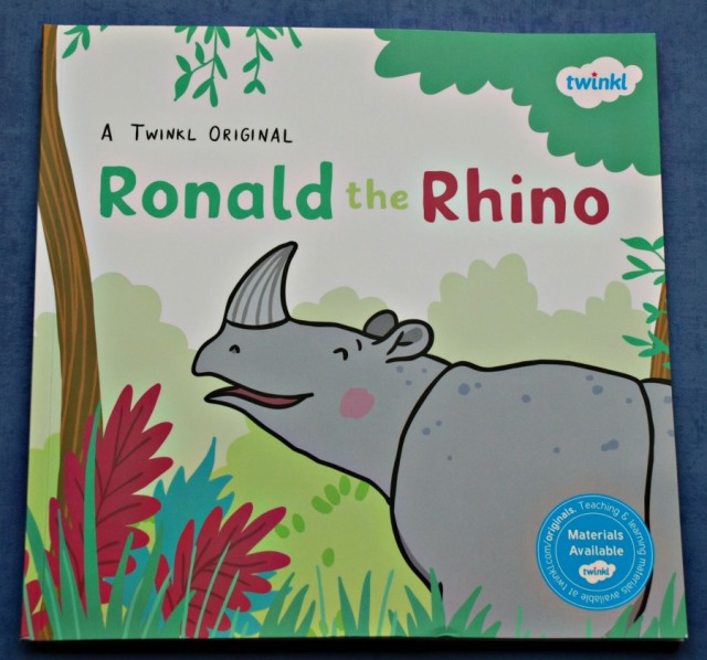 Ronald the Rhino an original Twinkl story. Part of their book club