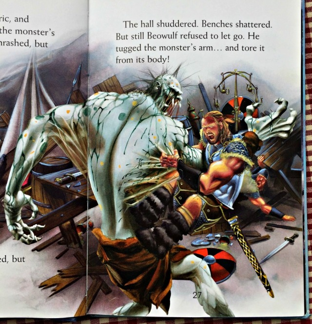 Beowulf. An ancient story about Boewulf fighting monsters and dragons. Part of the Usborne Young Reading Series