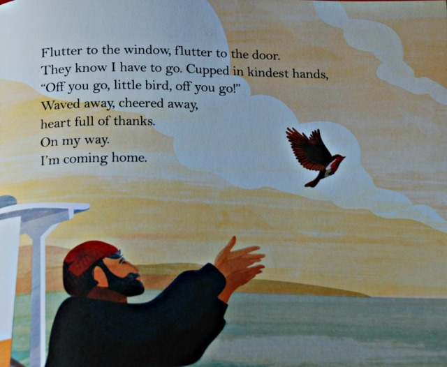 Coming Home. A lovely children's book about a robin flying home for winter