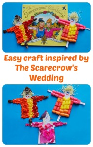 Easy Craft activity for children inspired by the Julia Donaldson story The Scarecrow's Wedding. Perfect for autumn and harvest themes