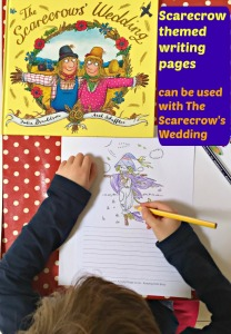 Scarecrow themed writing pages which can be used with the Julia Donaldson story The Scarecrow's Wedding or with an Autumn or Harvest theme