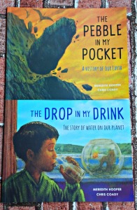 The pebble in my pocket and the Drop in my Drink. Children's book about the history of water and the history of the Earth