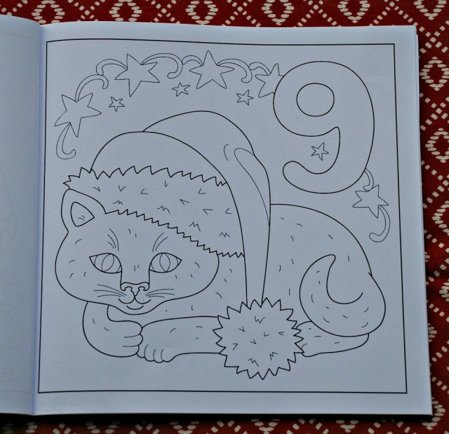 Advent Calendar colouring book for kids. Day 9