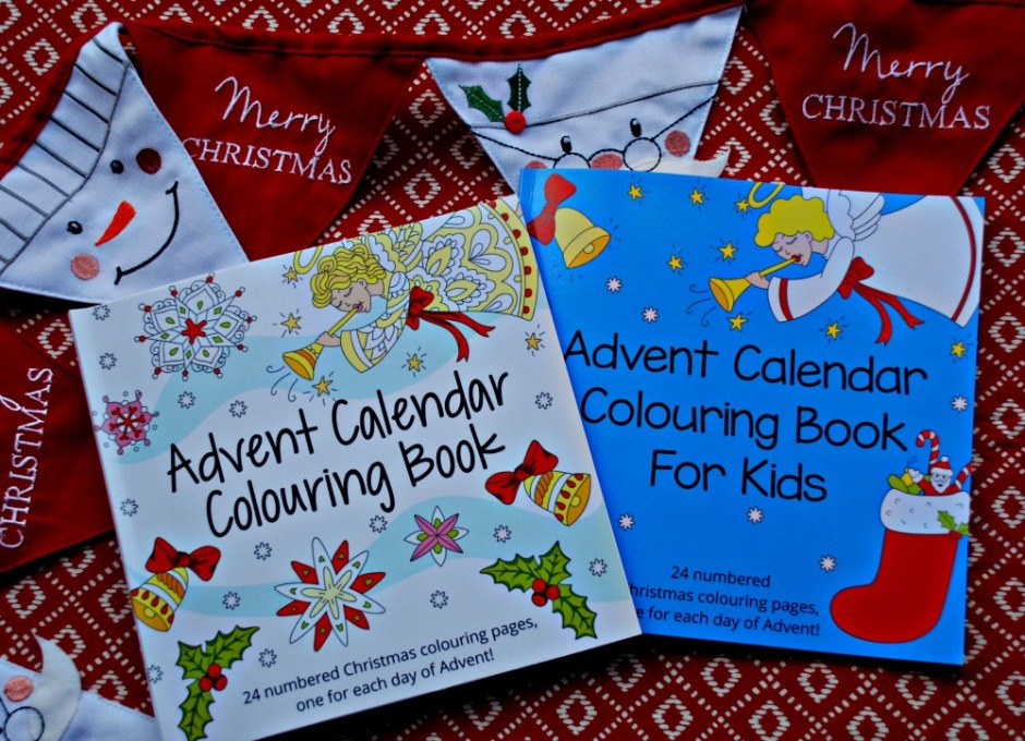Advent Calender Colouring Book for Kids and adults. Produced by Activity Village