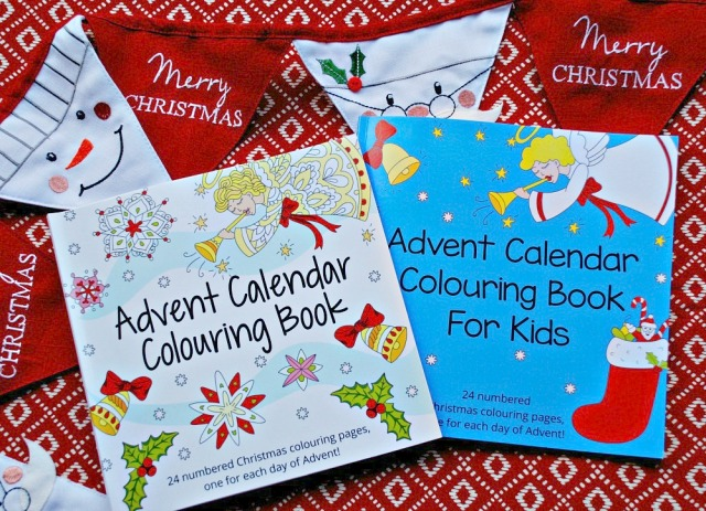 Advent Calendar Colouring Books
