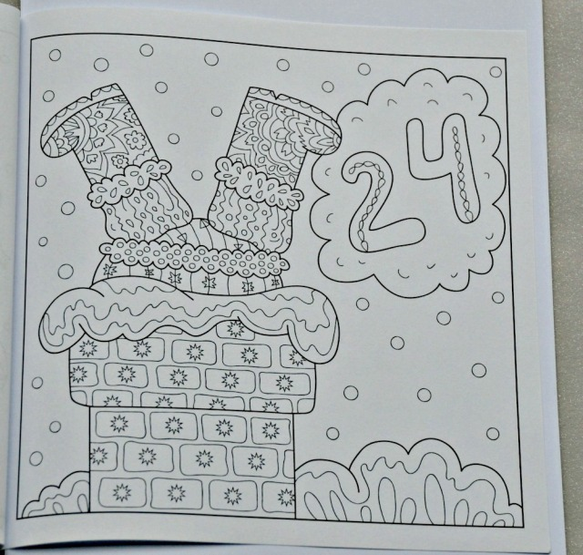 Advent Calendar colouring book. Day 24