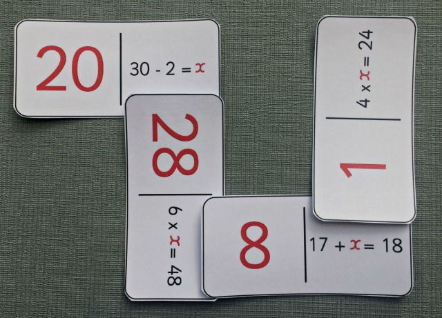 Algebra Dominoes from Twinkl Resources. Fun way to practice Maths