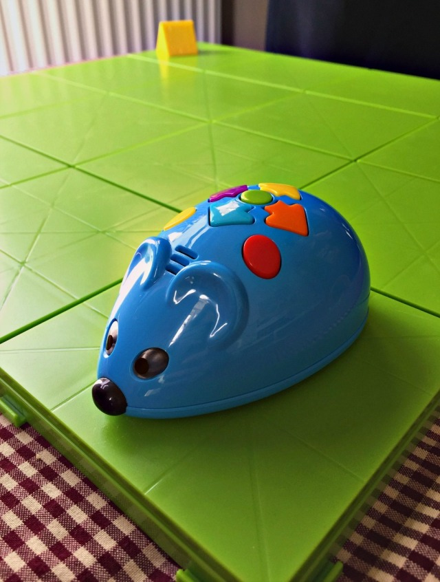 Code and Go Robot Mouse Activity Set from Learning Resources. The kids programme the mouse to find the cheese