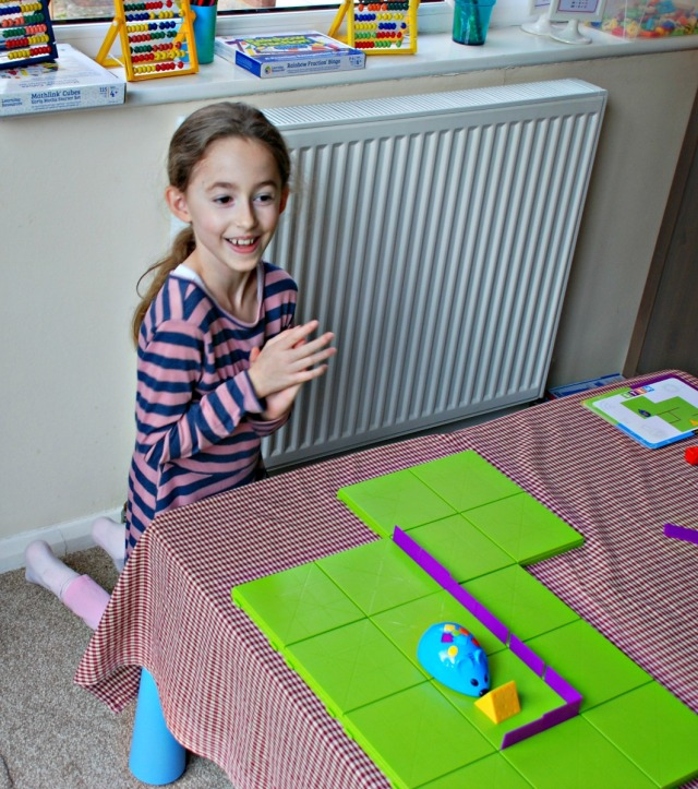 Code & Go Robot Mouse Activity Set. The kids programe the mouse so that it finds the cheese
