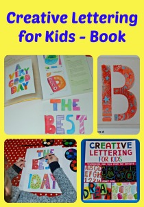 Creative Lettering for Kids.  A fun creative book filled with lettering activities for children to try at home