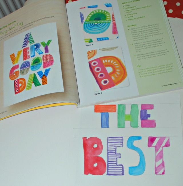 Creative Lettering for Kids. A book filled with fun lettering activities for kids to try