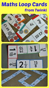 Maths themed loop cards from Twinkl resources.  Great maths practice activity.  pefect for practicing maths at home