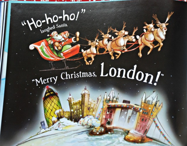 Santa is coming to London. Lovely children's book about Christmas Eve in London