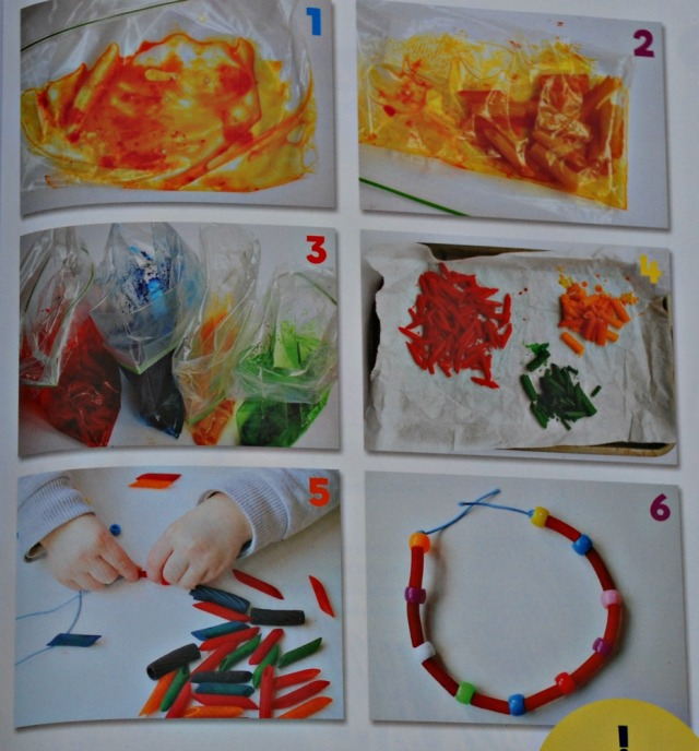 The Big Book of 100 Little Activities. Step by step instructions for pasta jewellery