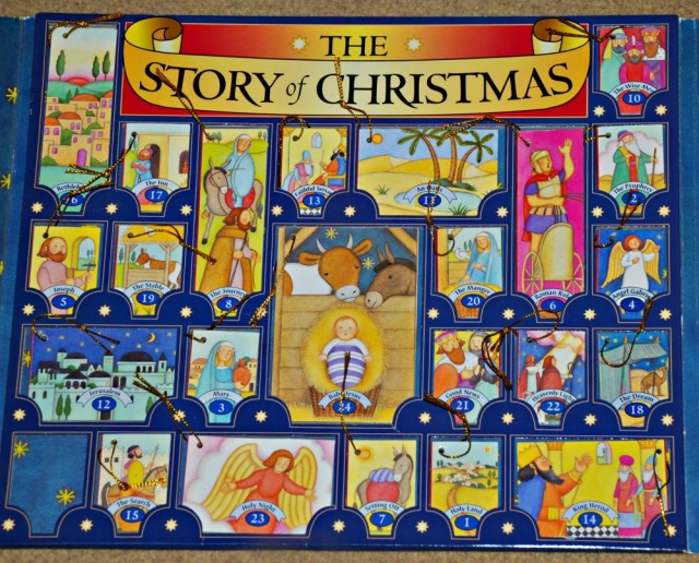 The Story of Christmas book set contains 24 mini booklets which you hang on the Christmas tree in the build up to Christmas