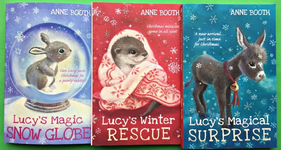 Lucy's Magic Snow Globe, Lucy's Winter Rescue and Lucy's Magical Surprise written by Anne Booth